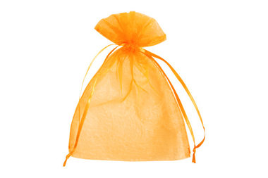 Organza zakjes 5 x 7 cm oranje