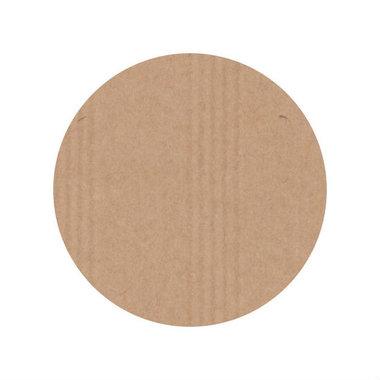 Ronde kraft stickers blanco 10 stuks