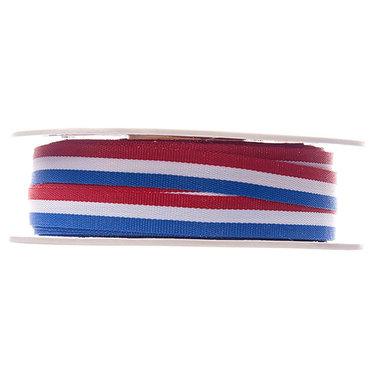 Rood wit blauw lint 10 mm breed