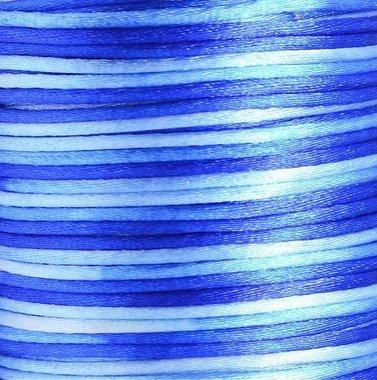Satijnkoord 2 mm blauw tinten verloop