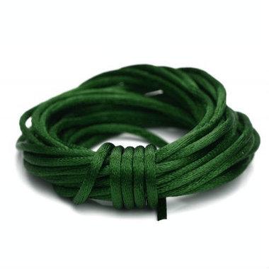 Satijnkoord 2 mm donker groen
