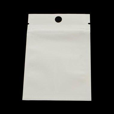 Zip zakjes wit met ophangoog 7 x 10 cm 10 stuks