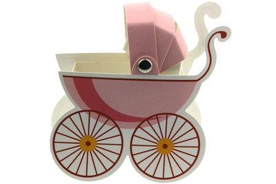 Kinderwagen doosje roze
