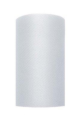 8 cm Tule lint licht grijs