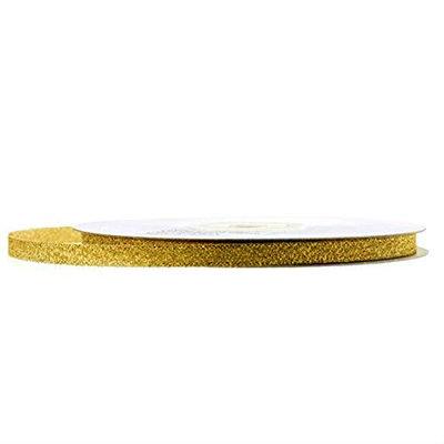 Metalic lint 1 cm breed Goud
