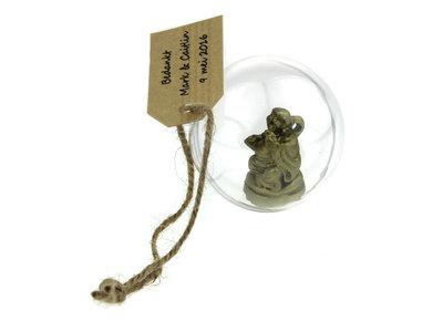 Bedankjes boeddha in bol 5 cm