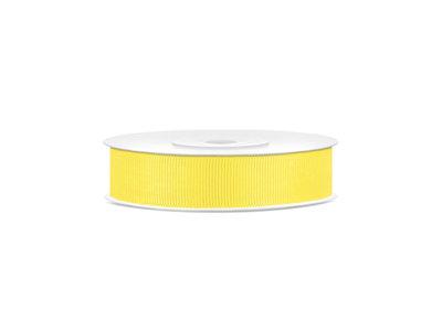 Grosgrain lint 15 mm breed geel
