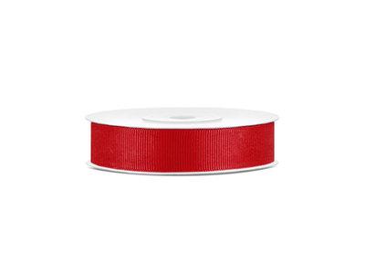 Grosgrain lint 15 mm breed rood