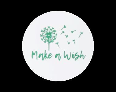 Ronde stickers make a wish 10 stuks