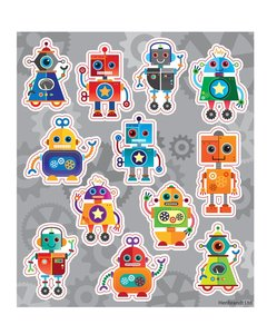 Traktatie stickers robots