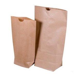 Kraft papier zakjes met blokbodem 6.7 x 5 cm 10 stuks