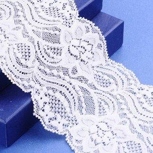 Elastisch kant off white 9 cm breed