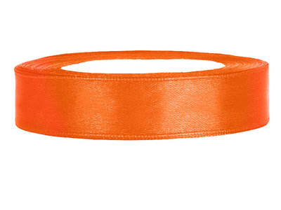 Oranje satijn lint 2 cm breed