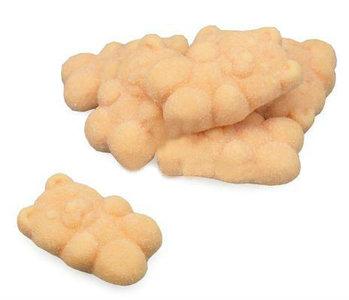 Gesuikerde gum snoepjes beer licht oranje