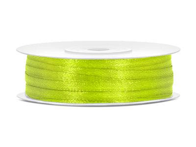 Lime groen satijn lint 3 mm breed